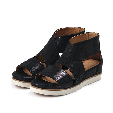 Potsdam Wide Straps Sandals (Black)