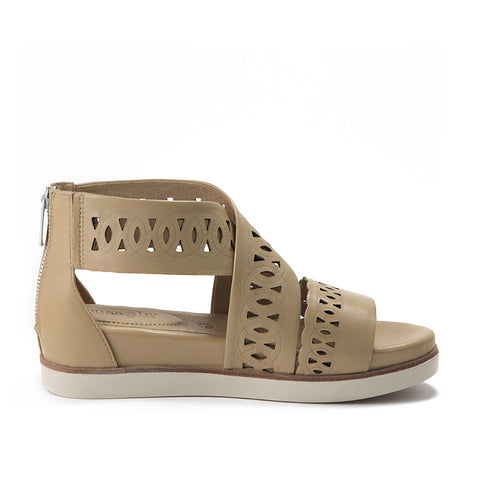 Potsdam Perforated Wide Straps Sandals (Sand)