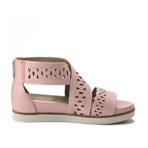 Potsdam Perforated Wide Straps Sandals (Blush)