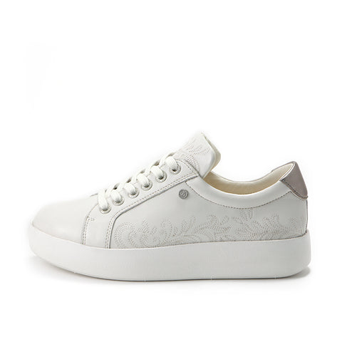 Lizzy Lace-Up Sneakers (Bone)