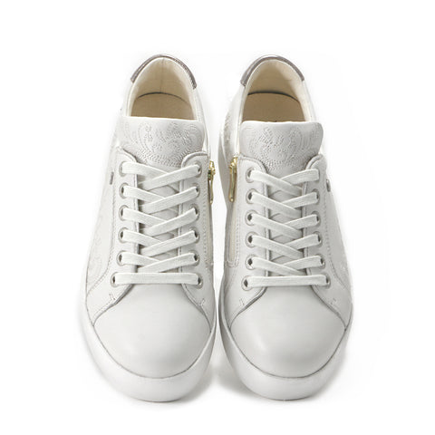 Final- Lizzy Lace-Up Sneakers (Bone)