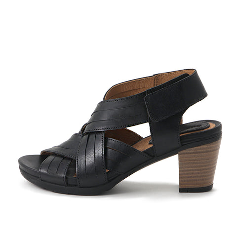 Lima Cross Strap Sandals (Black)