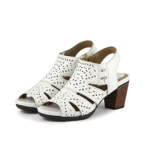 Lima Perforated Sandals (Bone)