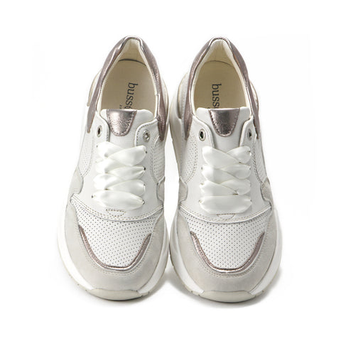 Josie Chunky Sneakers (Bone/White Gold)