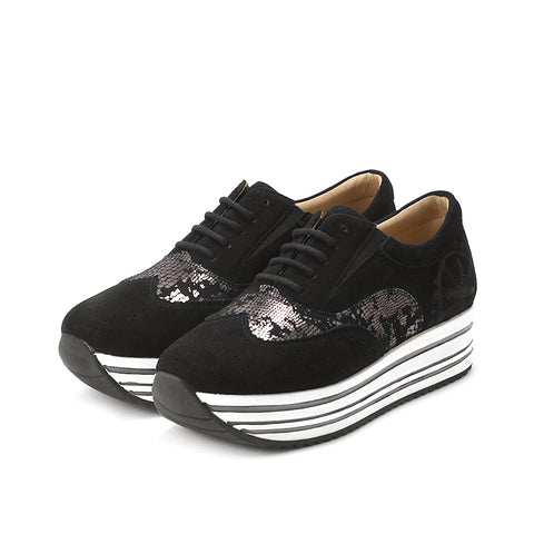 Bess Flatform Oxfords (Black)