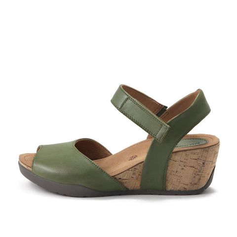 Nice Ankle Strap Wedge Sandals (Khaki)