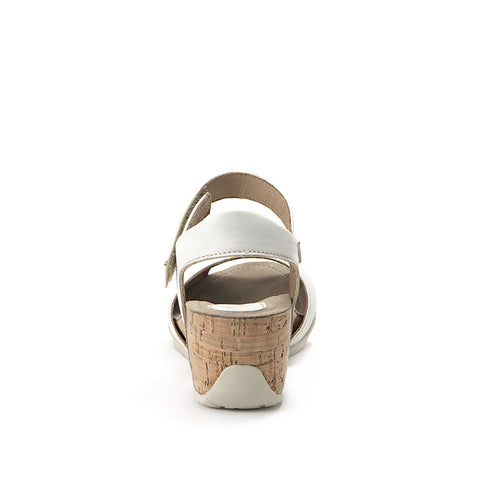 Nice Ankle Strap Wedge Sandals (Bone)