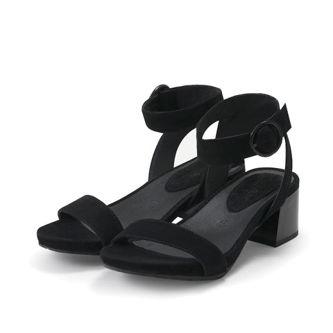 Avignon Ankle Strap Sandals (Black)