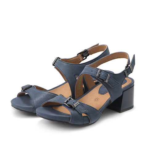 Avignon Buckle Strap Sandals (Denim)