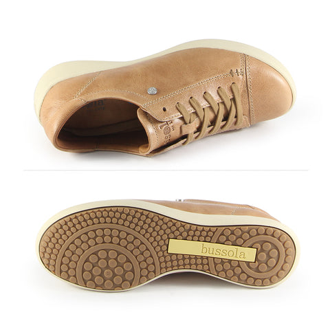 Lecce Lace-Up Sneakers  (Latte)