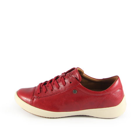 Lecce Lace-Up Sneakers  (Red)
