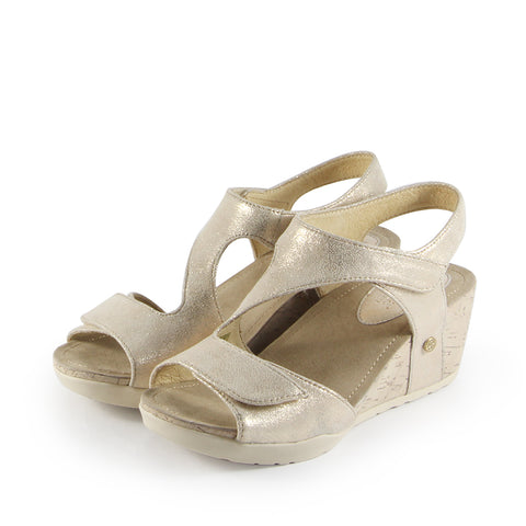 Nice Velcro Wedge Sandals (Sand)