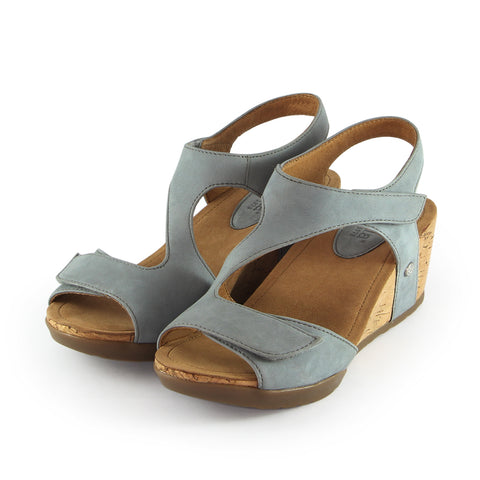 Nice Velcro Wedge Sandals (Jeans)