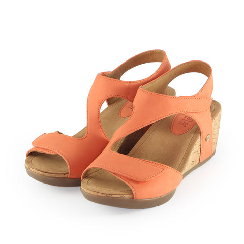 Nice Velcro Wedge Sandals (Mango)