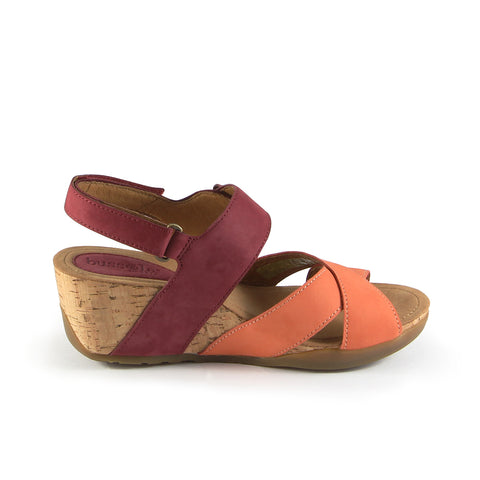 Nice Straps Wedge Sandals (Mango/Berry)
