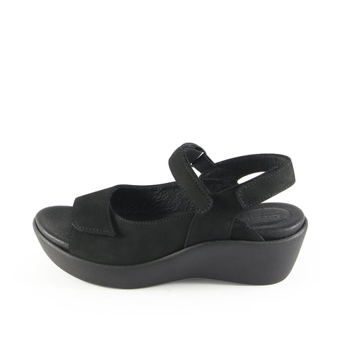 Malaga Velcro Sandals (Metal Washed Black)
