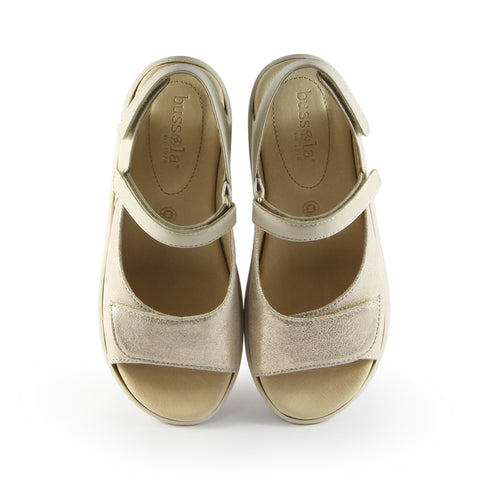 Malaga Velcro Sandals (Metal Washed Sand)