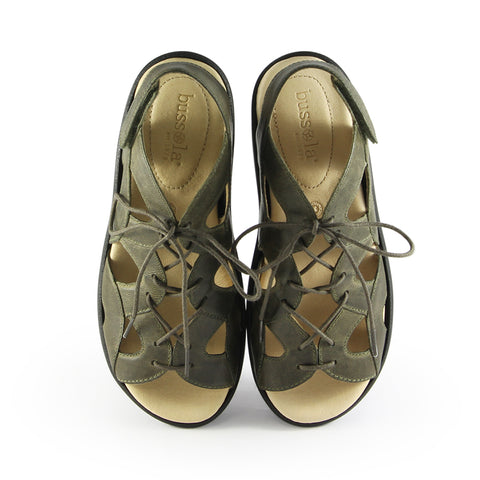 Malaga Lace-Up Sandals (Olive)