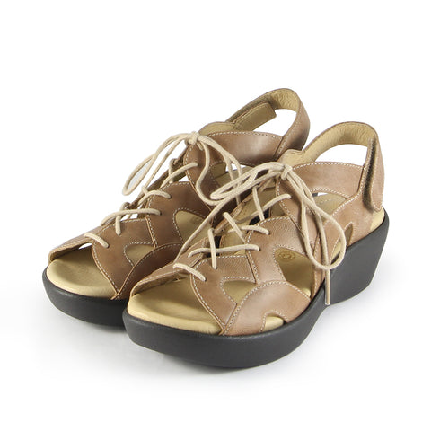 Malaga Lace-Up Sandals (Doeskin)