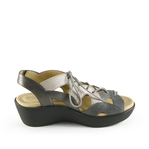 Malaga Lace-Up Sandals (Grey)