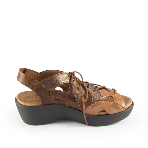 Malaga Lace-Up Sandals (Brandy)