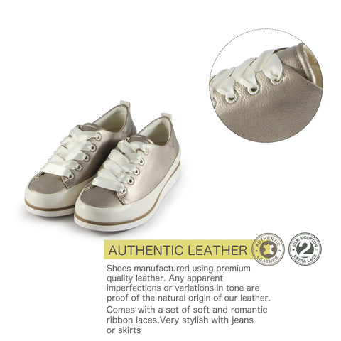 Koln Lace-Up Shoes (White Gold)