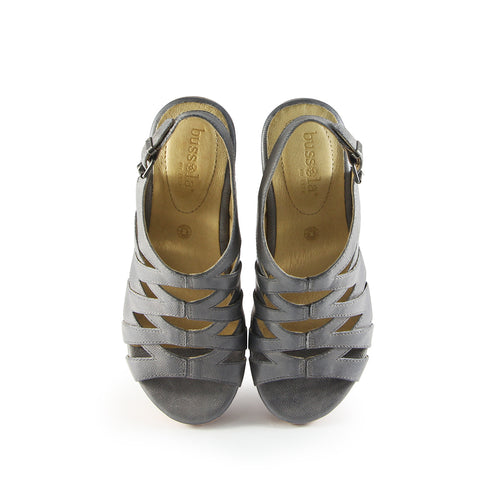 Ibiza Cage Wedge Sandals (Grey)