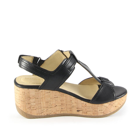 Ibiza T-Strap Wedge Sandals (Nero)