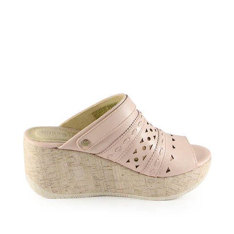 Ibiza Perforated Mule Wedge Sandals (Satin)