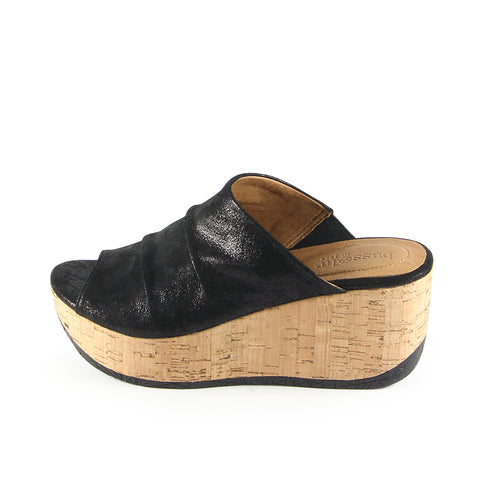 Ibiza Mule Wedge Sandals (Black)