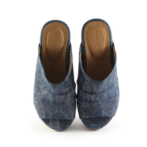 Ibiza Mule Wedge Sandals (Indigo)
