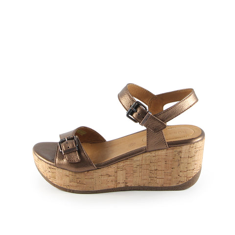 Ibiza Ankle Straps Wedge Sandals (Copper)