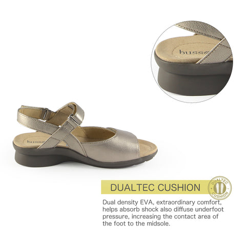 Vienna Velcro Sandals (Pewter)