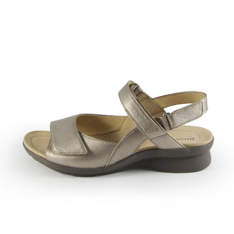 Vienna Velcro Sandals (White Gold)