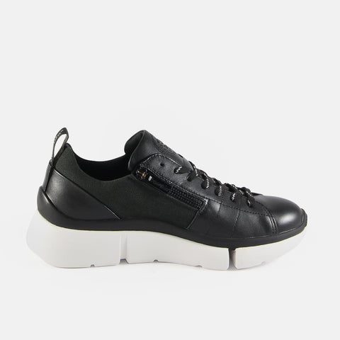 Munich Zipper Lace-Up Sneakers (Nero)