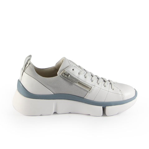 Munich Zipper Lace-Up Sneakers (Vapor)