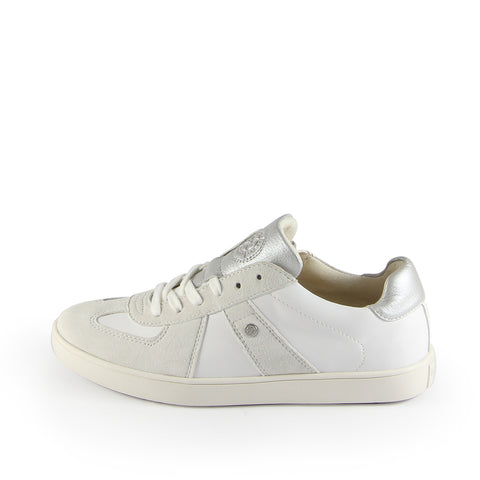 Budapest Vintage Army Trainers (Bianco)