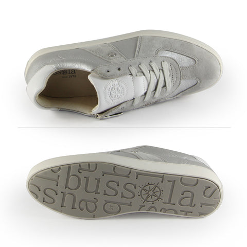Budapest Vintage Army Trainers (Silver)