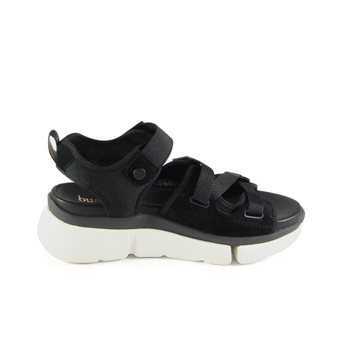 Rome Multi Straps Sporty Flatform Sandals (Nero)