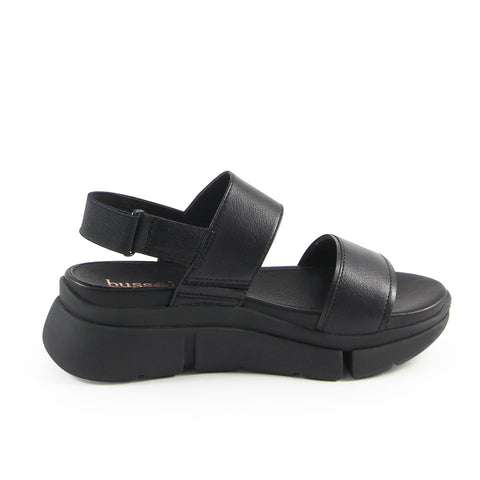 Rome Wide Straps Sporty Flatform Sandals (Nero Edition)