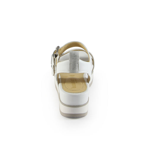 Barcelona Buckle Straps Sandals (Bianco)