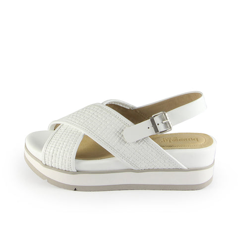 Barcelona Cross Strap Sandals- Cow