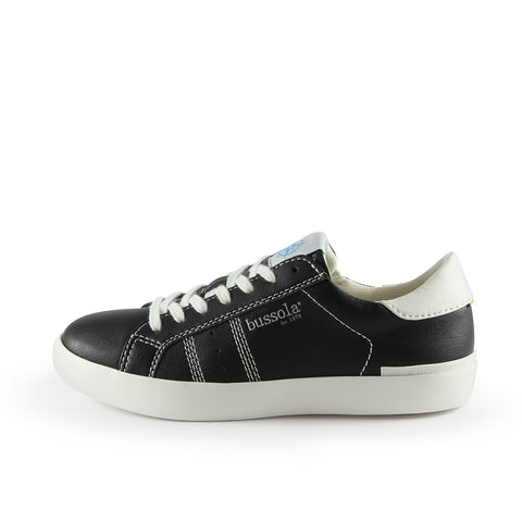 Toscana Lace-Up Sneakers (Nero/Bianco)