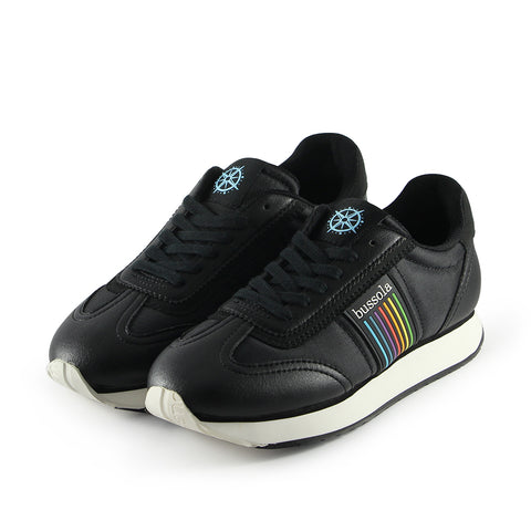 Sapporo Retro Running Sneakers (Nylon Nero/Rainbow)