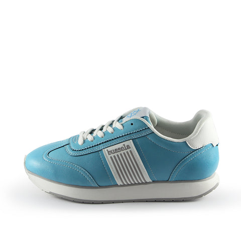 Sapporo Retro Running Sneakers (Vegan Nappa Washed Sky)