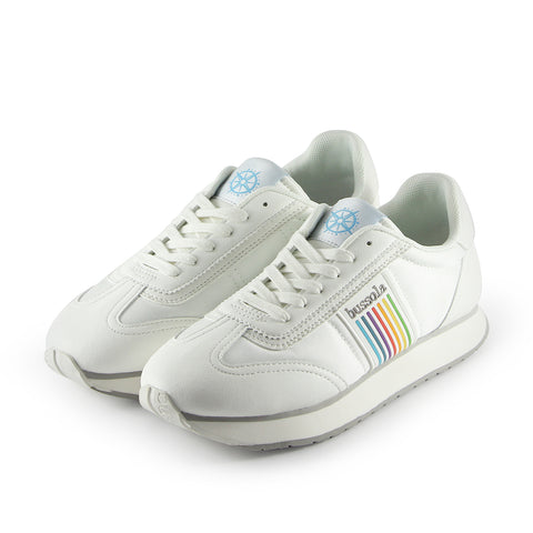 Sapporo Retro Running Sneakers (Nylon Bianco/Rainbow)
