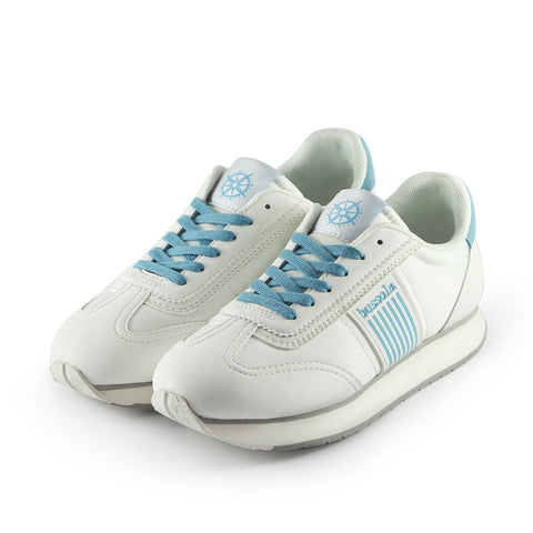 Sapporo Retro Running Sneakers (Nylon Bianco/Sky)