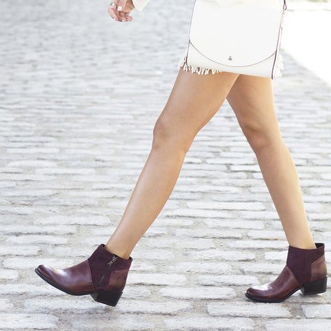 Firenze Zip Ankle Booties (Corten)