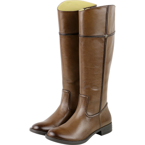 Trapani Knee-High Riding Boots (Luggage)