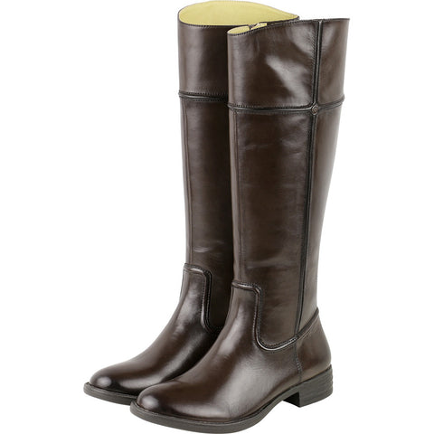 Trapani Knee-High Riding Boots (Brown)